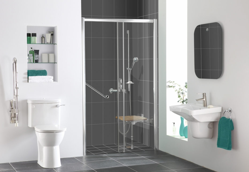Easy access shower rooms at more bathrooms leeds for Bathroom design leeds