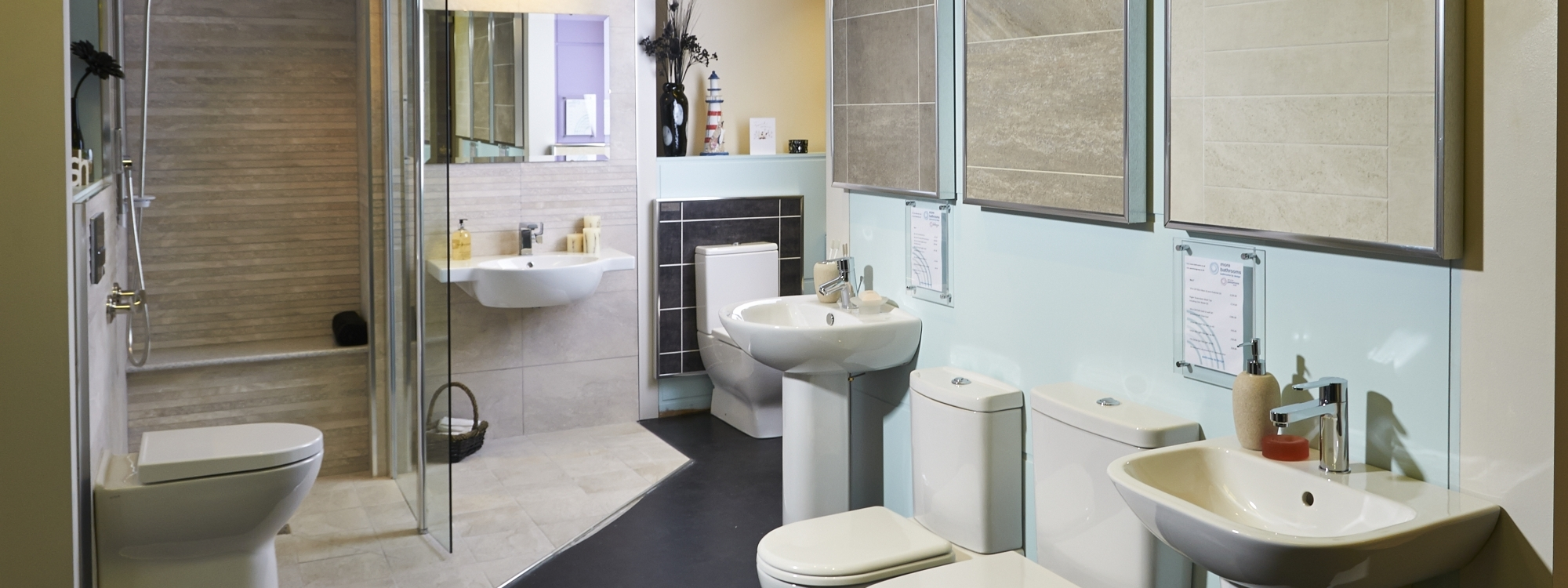 Visit more bathrooms showroom leeds west yorkshire for Bathroom design leeds