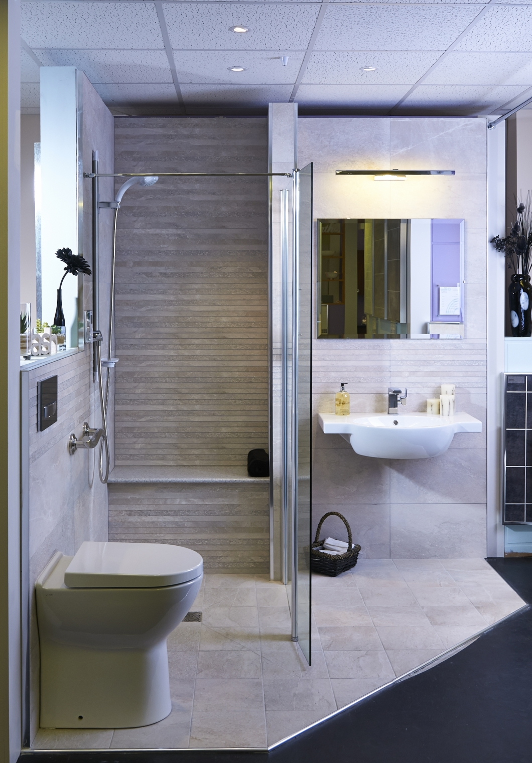 Stylish wet room designs at more bathrooms leeds for Bathroom wet room designs